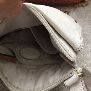 Fossil Bags - Fossil cream leather crossbody bag